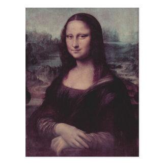 Leonardo da Vinci Mona Lisa (La Giaconda) Mona Lis Postkarte