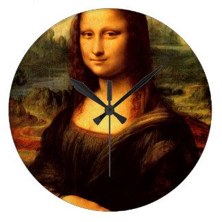 LEONARDO DA VINCI - Mona Lisa, La Gioconda 1503 Große Wanduhr