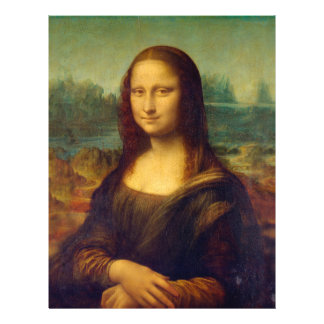 Leonardo da Vinci, Mona Lisa Malerei Flyer