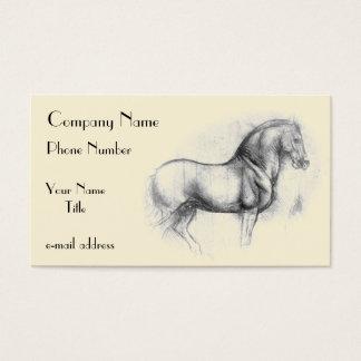 LEONARDO-DA-Vinci-Pferd Visitenkarte