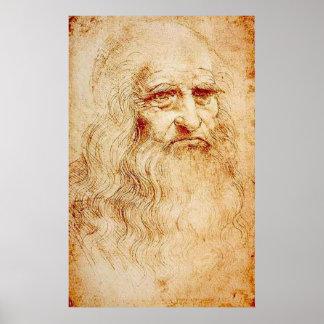 Leonardo da Vinci - Selbstporträt Plakatdruck