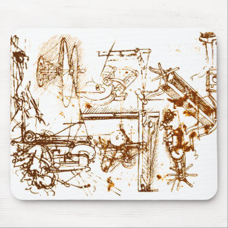 Leonardo da Vinci skizzierte Mausunterlage Mousepads