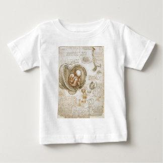 Leonardo da Vinci-Studien des Fötusses in der Baby T-shirt