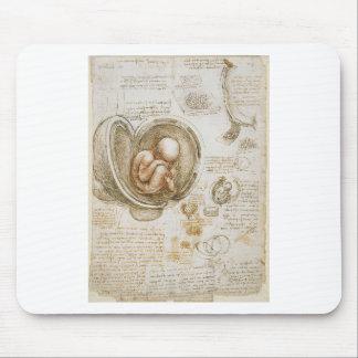 Leonardo da Vinci-Studien des Fötusses in der Mousepad