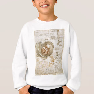 Leonardo da Vinci-Studien des Fötusses in der Sweatshirt