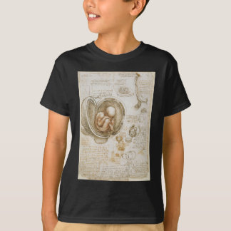 Leonardo da Vinci-Studien des Fötusses in der T-Shirt