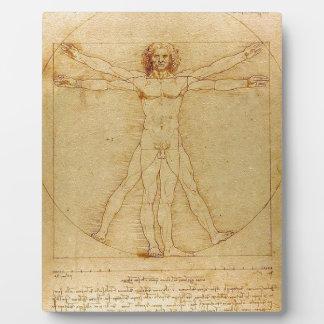 Leonardo da Vinci - Vitruvian Mann-Malerei Fotoplatte