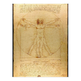 Leonardo da Vinci - Vitruvian Mann-Malerei Postkarte