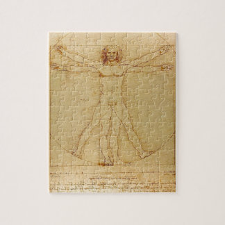 Leonardo da Vinci - Vitruvian Mann-Malerei Puzzle