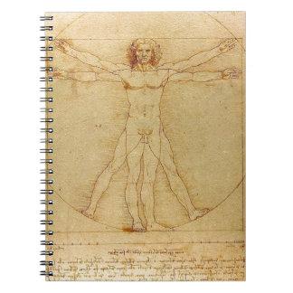 Leonardo da Vinci - Vitruvian Mann-Malerei Spiral Notizblock