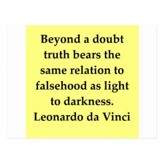 Leonardo da Vinci Zitat Postkarte