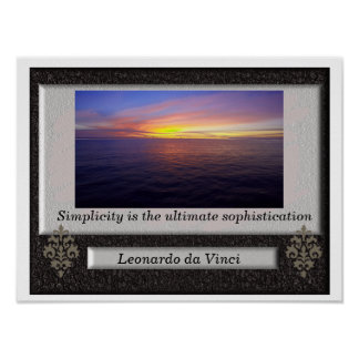 Leonardo da Vinci - Zitatplakat Poster