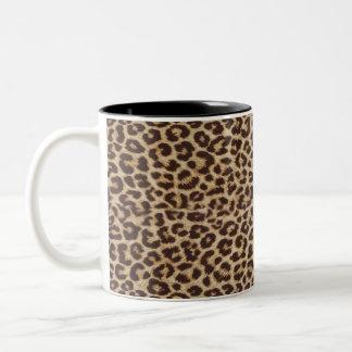 Leopard Becher Zweifarbige Tasse