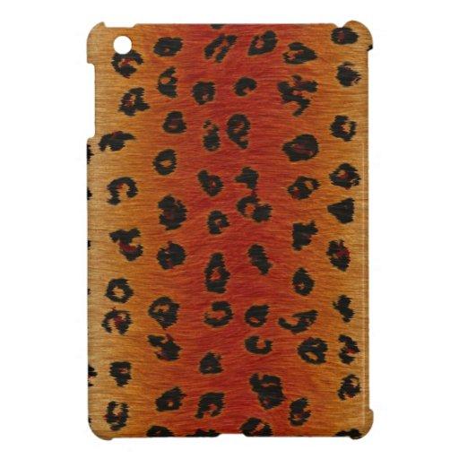Leopard beschmutzt wilden Katzen-Imitat-Pelz iPad Mini Schutzhülle