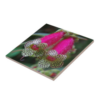 Leopard-Blumen-Entwurf Keramikfliese