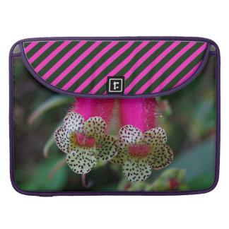 Leopard-Blumen-Entwurf Sleeve Für MacBooks