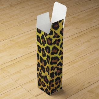 Leopard Brown und gelber Druck Wein-Geschenkverpackung