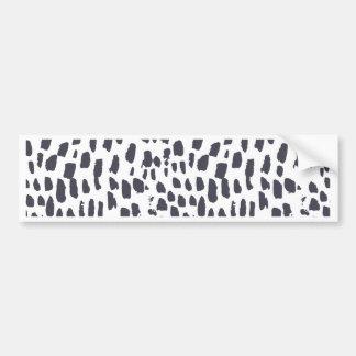 Leopard-Bürsten-Anschlag-Muster Autoaufkleber