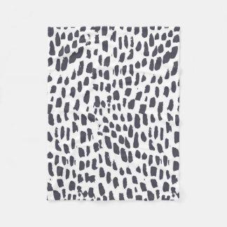 Leopard-Bürsten-Druck Fleecedecke