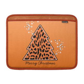 Leopard Cheetah Weihnachtsbaum-Rickshaw-Hülse MacBook Sleeve