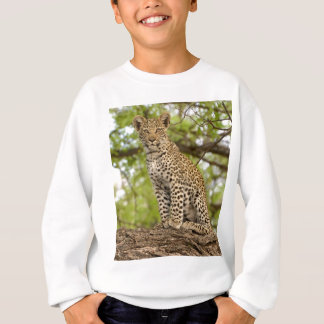 Leopard CUB auf einem Glied Sweatshirt