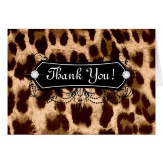 Leopard danken Ihnen, Schmuck-Mode zu kardieren Karte