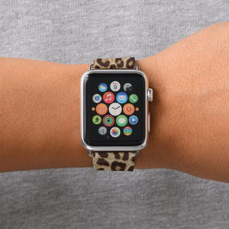 Leopard-Druck Apple passen ledernes Band 38mm auf