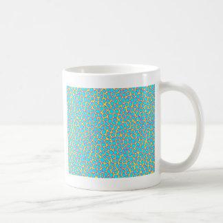 Leopard-Druck-Blau auf Gelb Kaffeetasse
