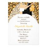 Leopard-Druck-Braut-und Bräutigam-Polterabend Individuelle Einladungen