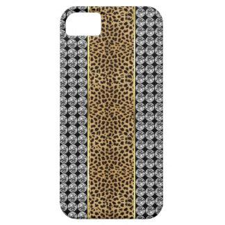Leopard-Druck-diamante de imitación Iphone kaum iPhone 5 Etui