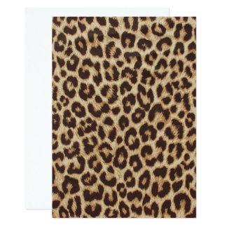 Leopard-Druck-Einladungs-Karte Karte