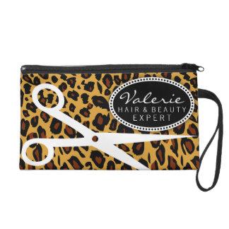 Leopard-Druck-Haar-Scheren