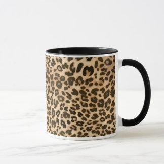 Leopard-Druck-Hintergrund Tasse