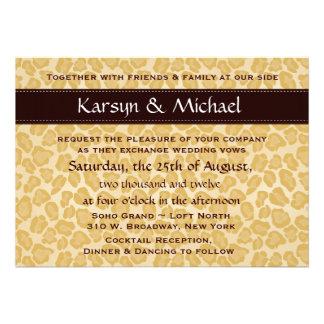 Leopard-Druck-Hochzeits-Einladung - kundengerecht