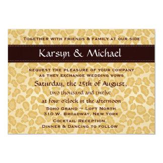 Leopard-Druck-Hochzeits-Einladung - kundengerecht 12,7 X 17,8 Cm Einladungskarte