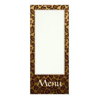 Leopard-Druck-Hochzeits-Menü - kundengerechtes 10,2 X 23,5 Cm Einladungskarte