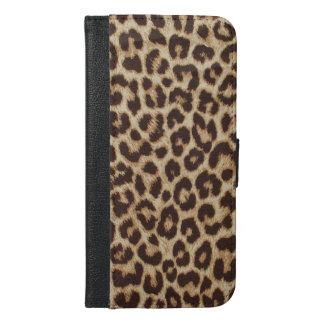 Leopard-Druck iPhone 6 Plusgeldbörsen-Kasten iPhone 6/6s Plus Geldbeutel Hülle