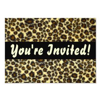Leopard-Druck-kundengerechte Einladungen 12,7 X 17,8 Cm Einladungskarte