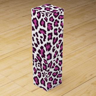 Leopard-Druck lila Wein-Geschenkverpackung
