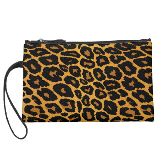 Leopard-Druck mit Steigungs-Gold Mini Velour Clutch