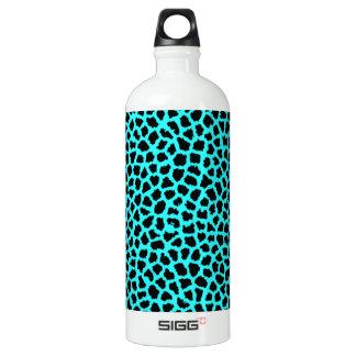 Leopard-Druck-Neon tBlue Aluminiumwasserflasche