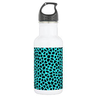 Leopard-Druck-Neon tBlue Trinkflasche