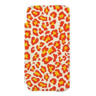 Leopard-Druck orange, gelb, weiß Incipio Watson™ iPhone 5 Geldbörsen Hülle