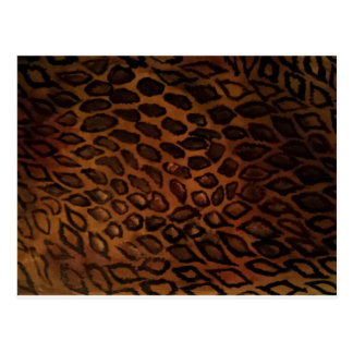 Leopard-Druck Postkarte