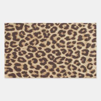 Leopard-Druck-Rechteck-Aufkleber Rechteckiger Aufkleber