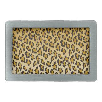 Leopard-Druck Rechteckige Gürtelschnalle