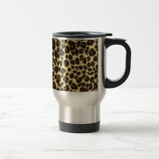 Leopard-Druck-Reise-Tasse