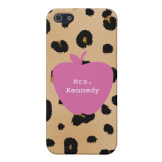 Leopard-Druck-Rosa-Apple-Lehrer