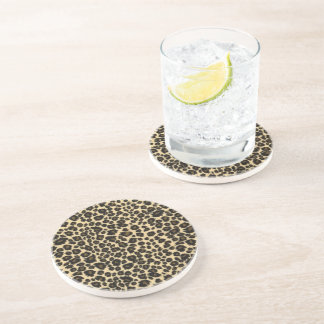 Leopard-Druck Sandstein Untersetzer