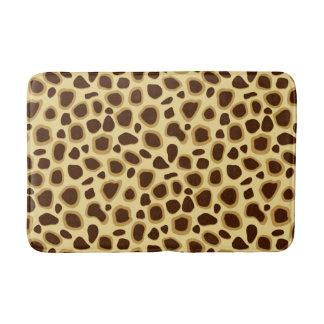 Leopard-Druck, schokoladenbraun und Kamel TAN Badematte